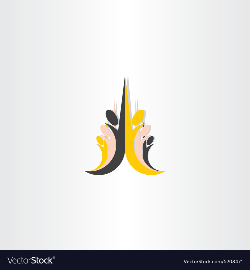 Children of different races icon vector