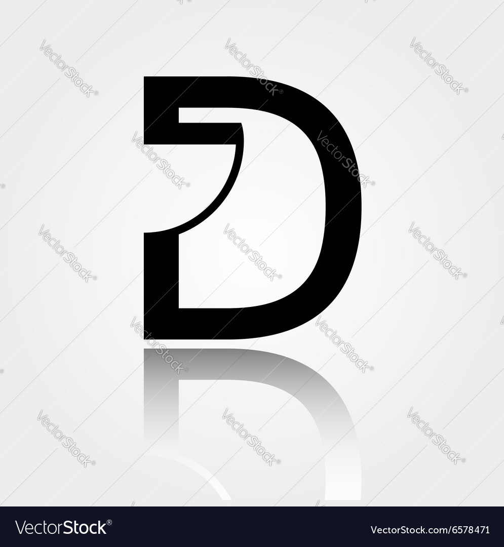D for design logo for interior design or architec vector