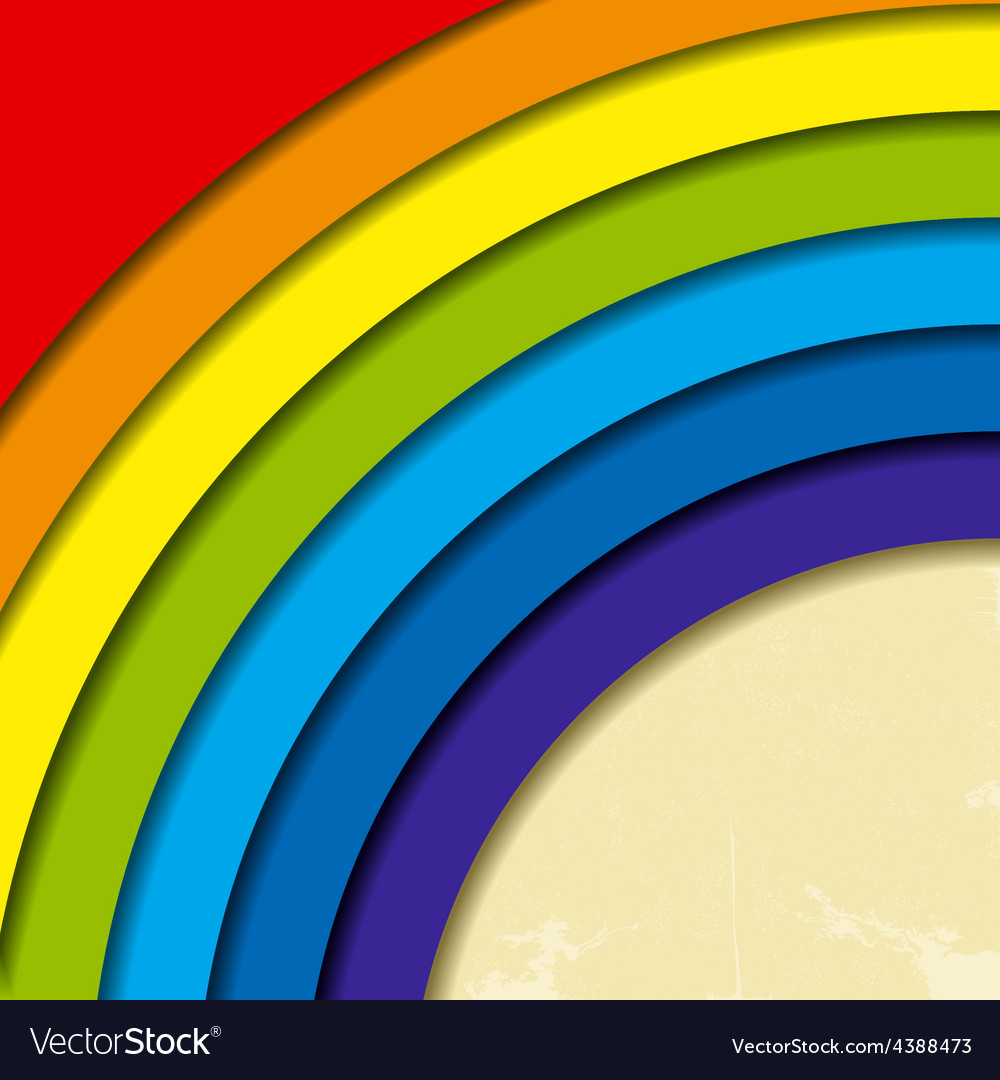 Abstract retro rainbow background vector