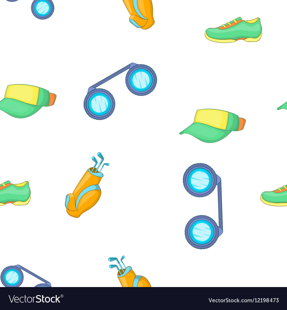Golf sport pattern cartoon style vector