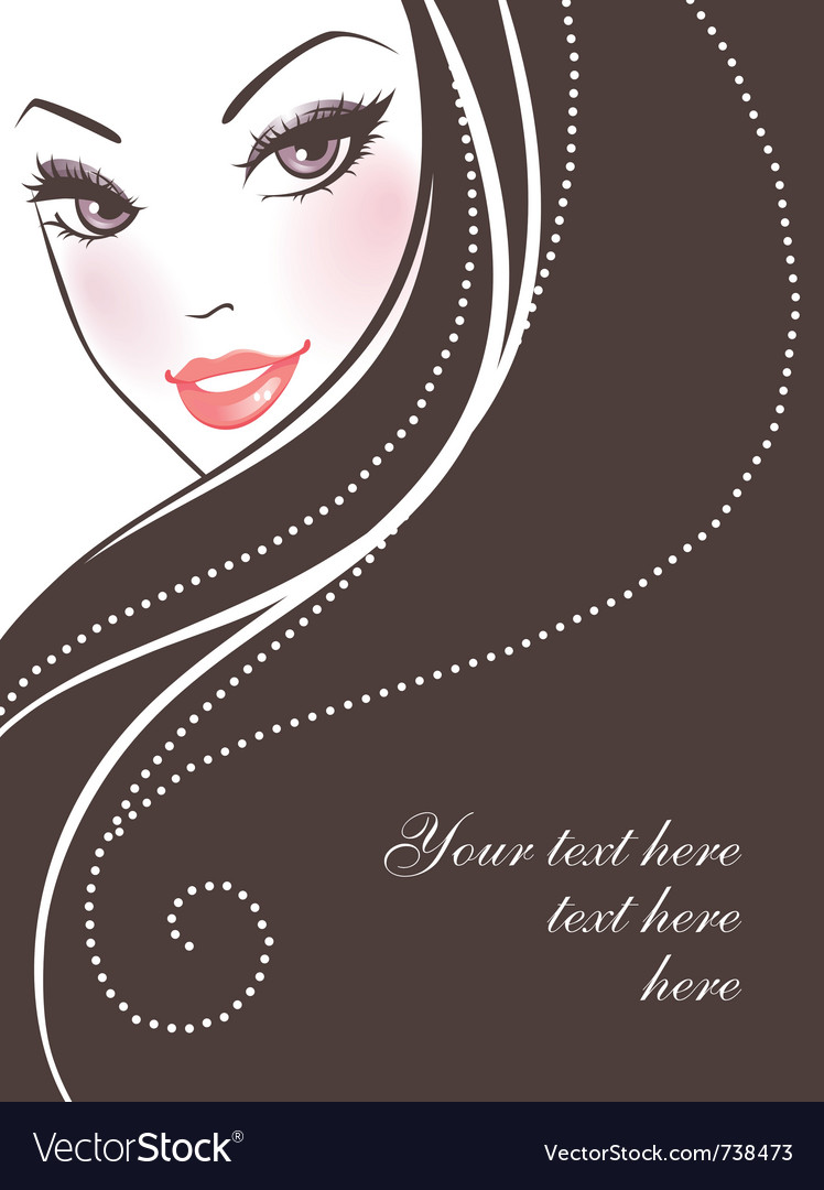 Woman hair back vector