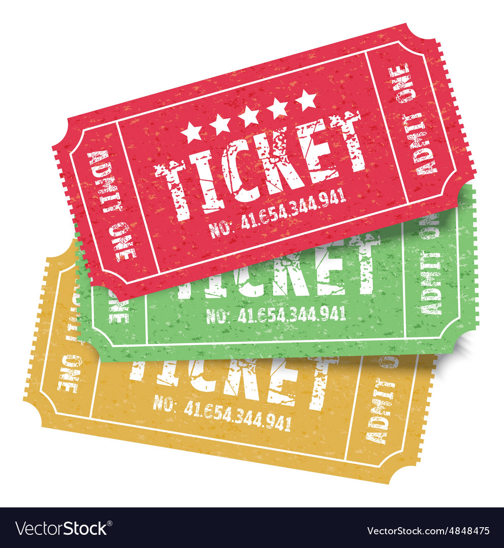 Set of colourful tickets vector
