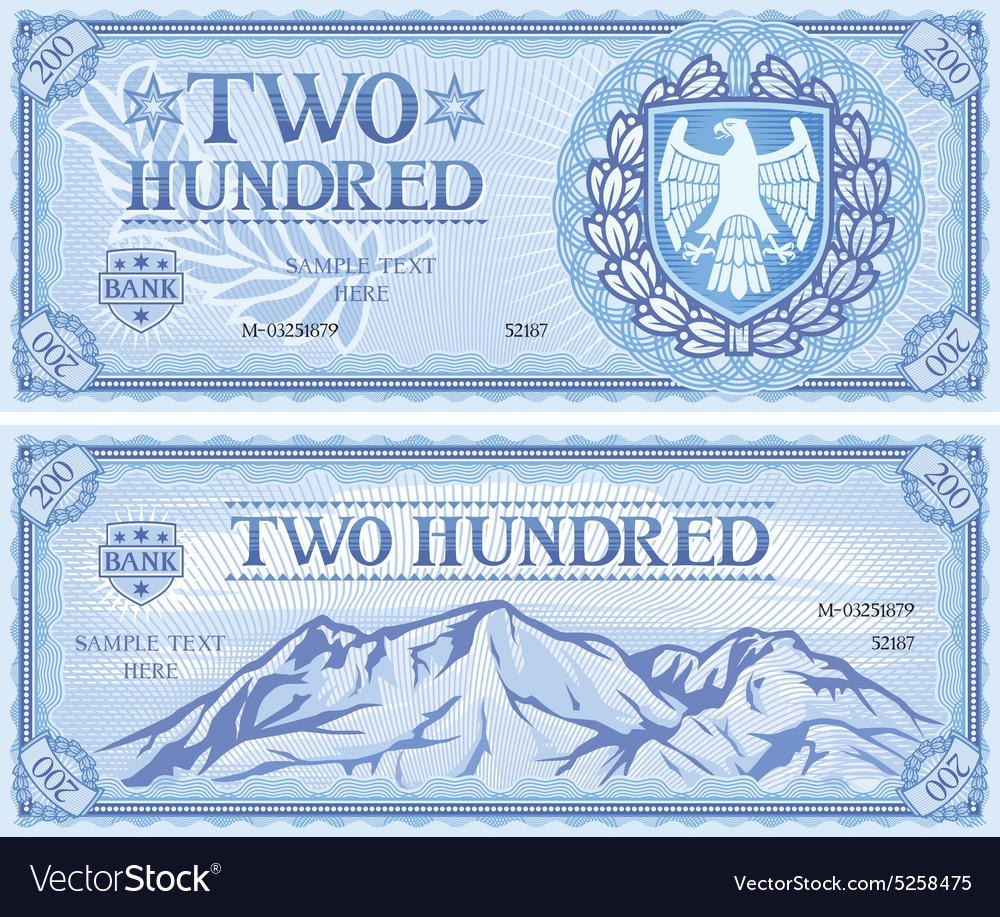 Two hundred dollar note vector