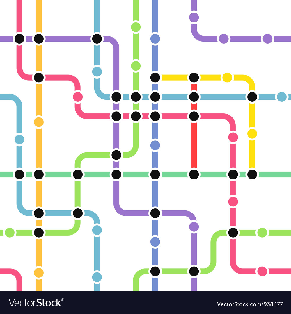 Metro route map vector