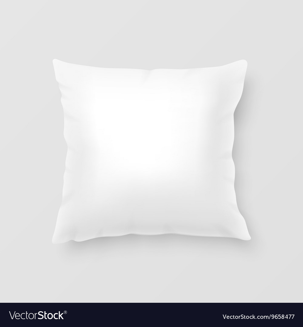 Realistic pillow vector