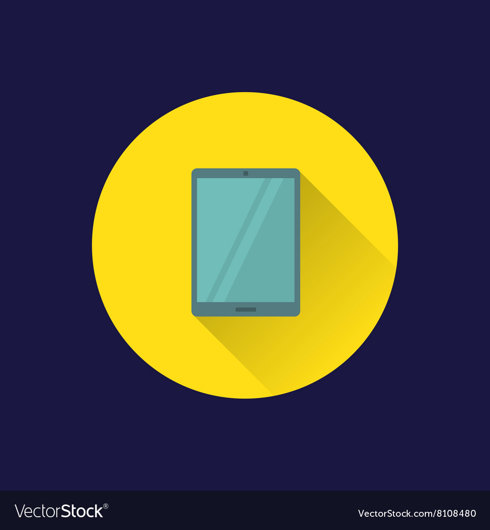 Flat tablet pc icon vector