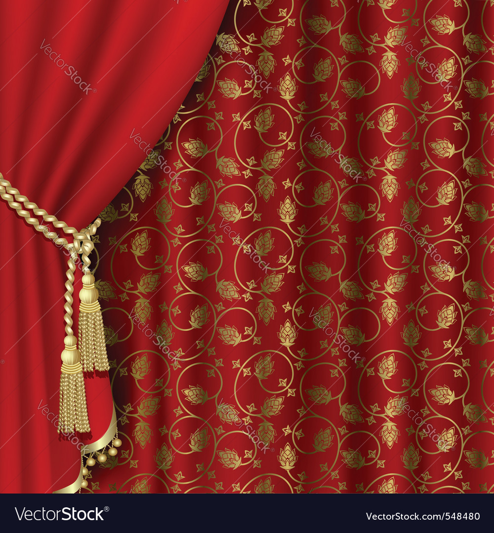 Royal curtain vector