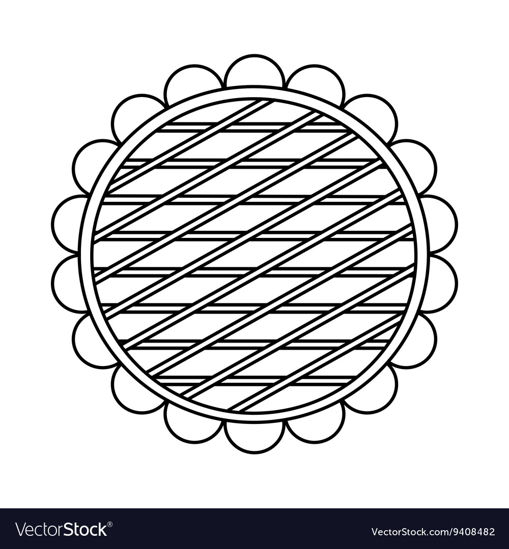 Berry pie icon outline style vector