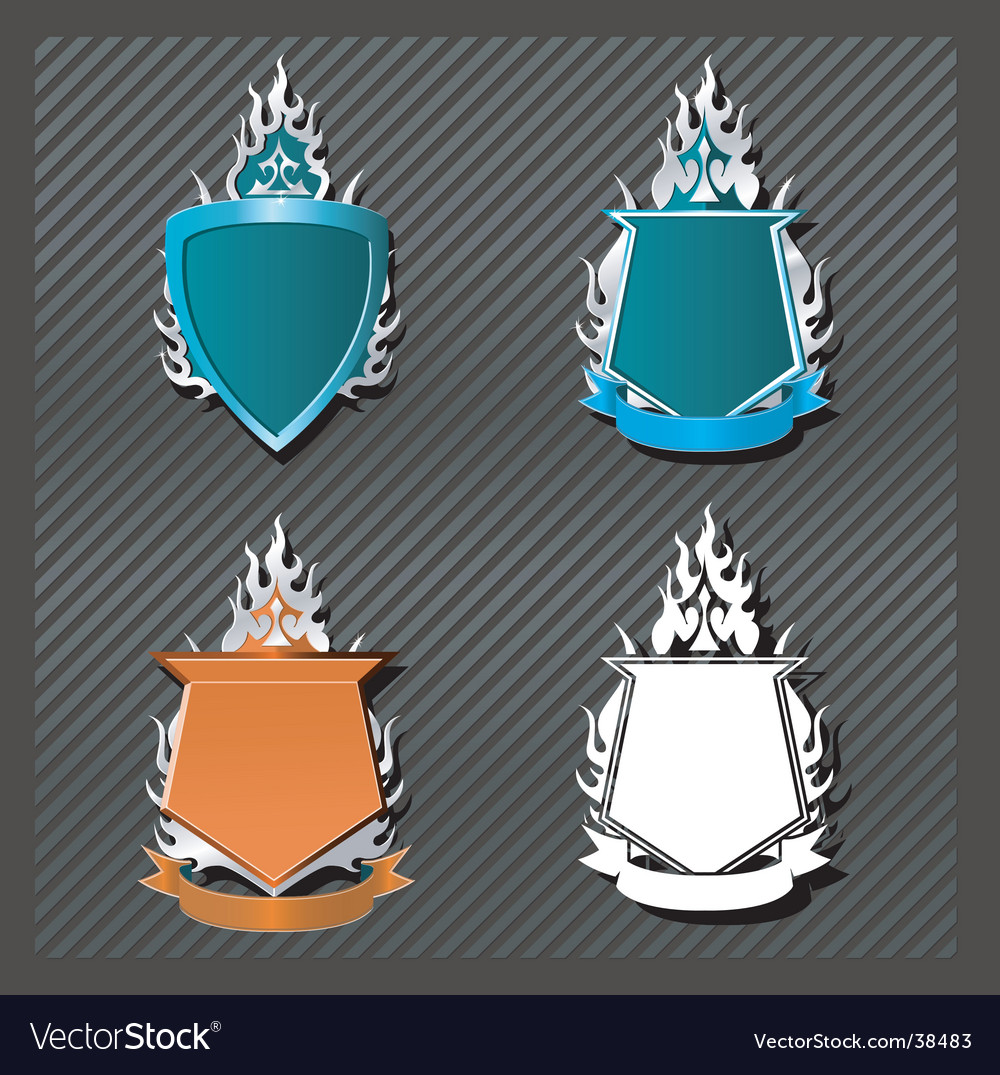 Fire and flames vector