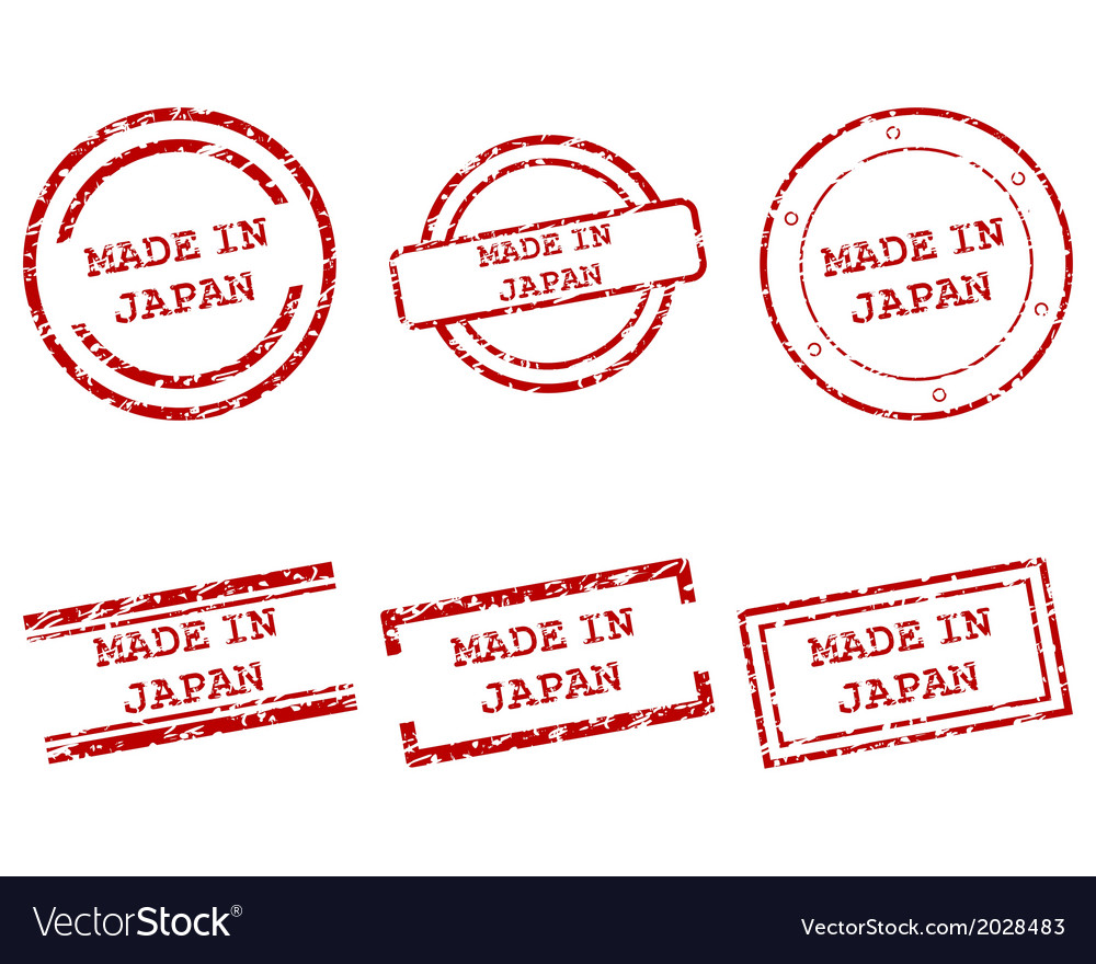Made in japan stamps vector