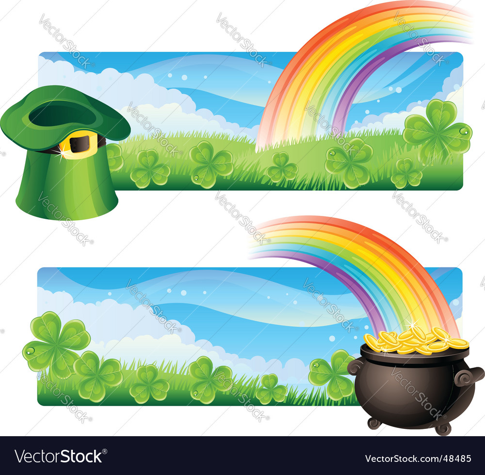 St patricks banners vector