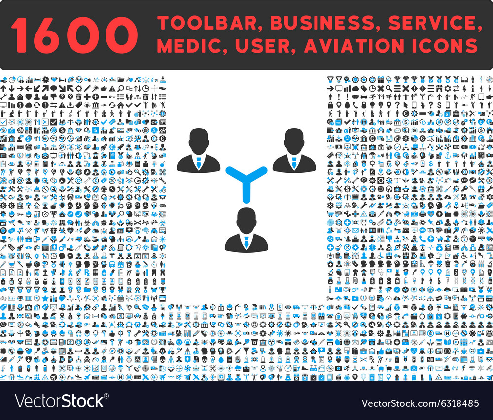 Teamwork icon with large pictogram collection vector