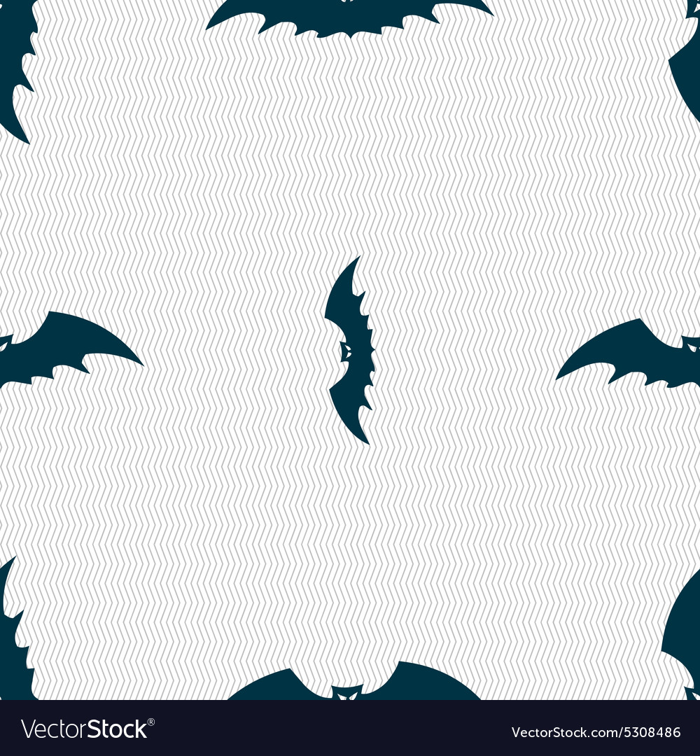 Bat icon sign seamless pattern with geometric vector