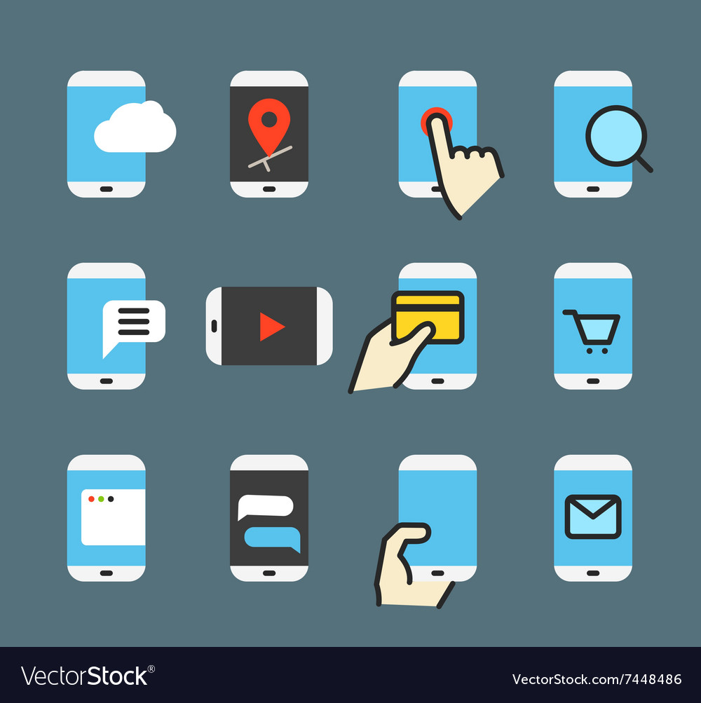 Different modern smartphone vector