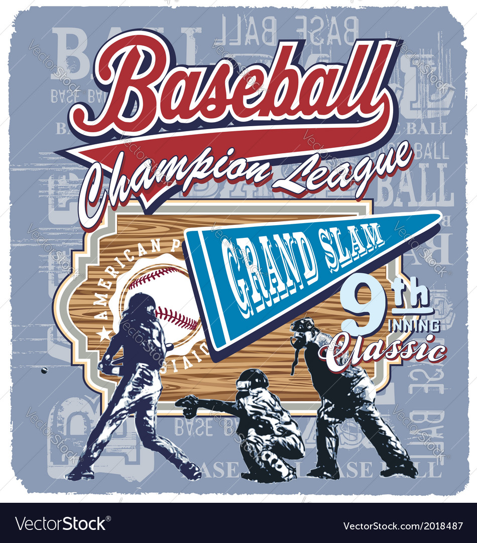 9th inning grandslam baseball vector