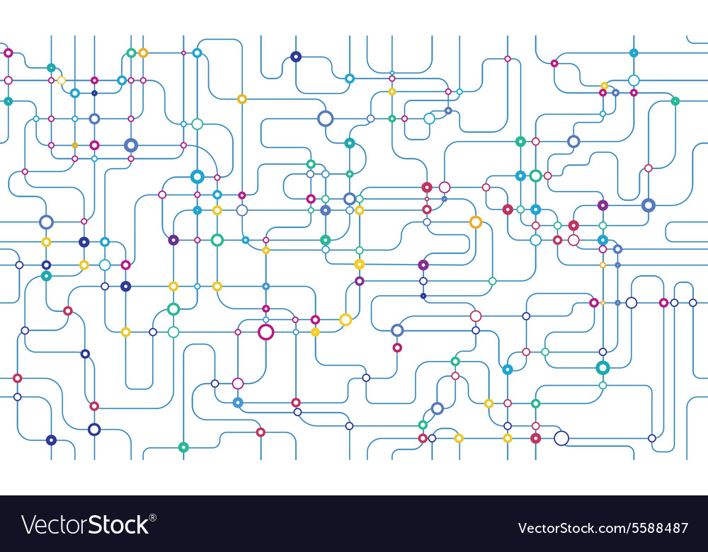 Network seamless background vector