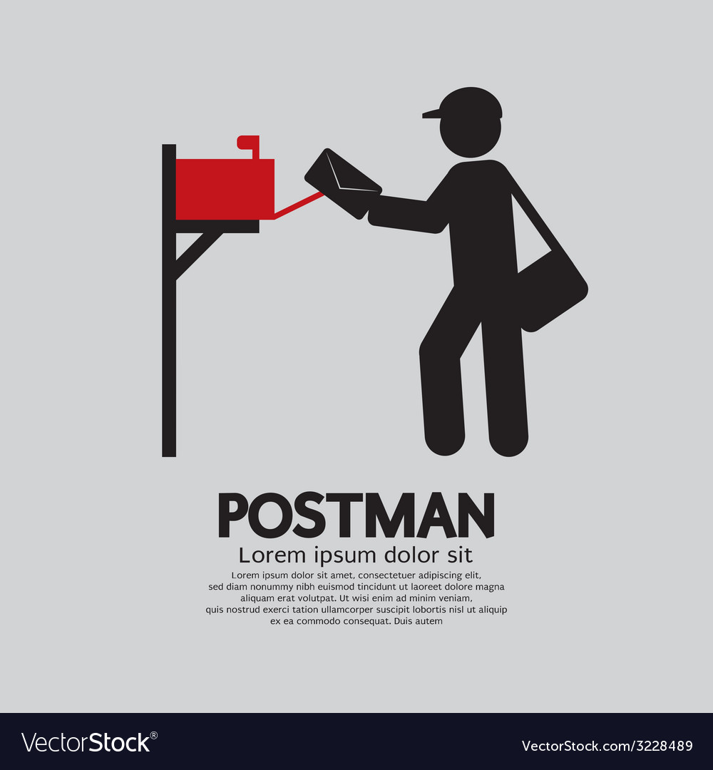 Postman graphic symbol vector