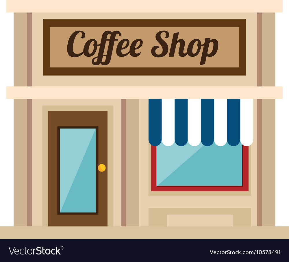 Little coffee shop store vector