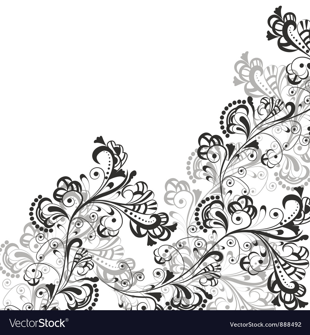 Floral abstract pattern 2 vector