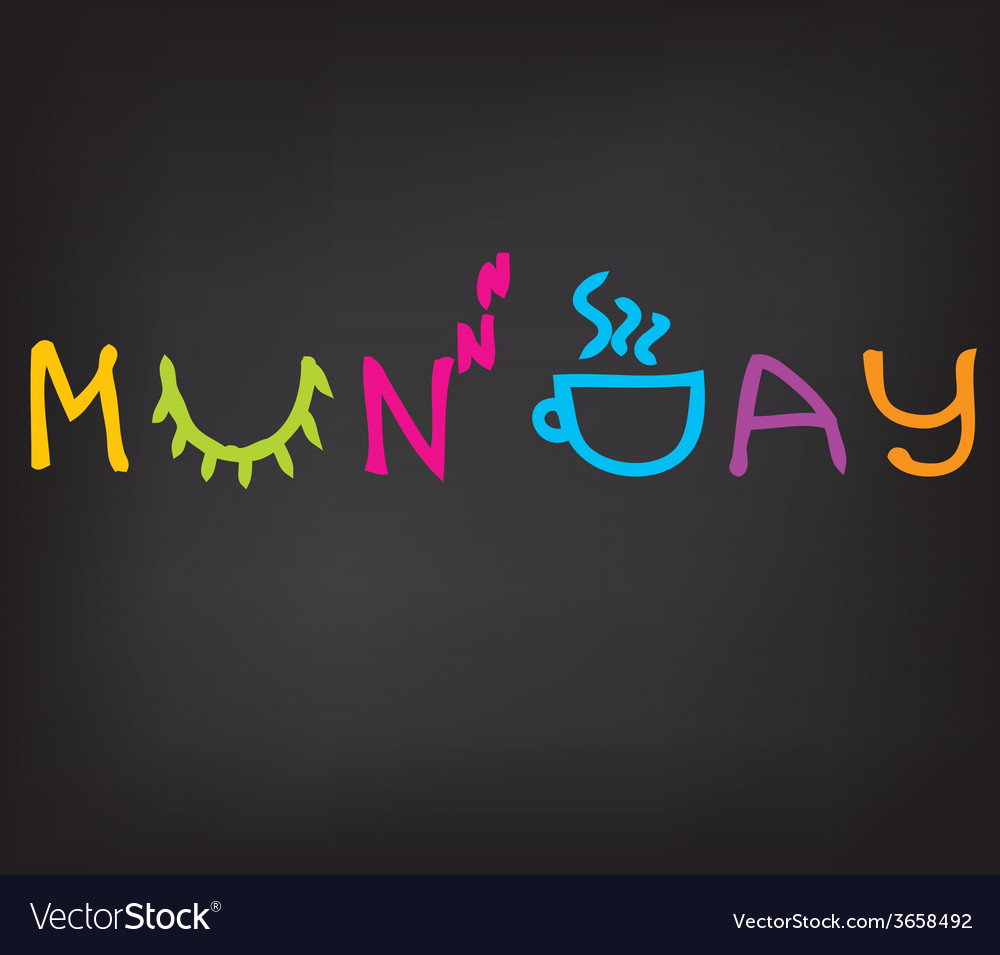 Happy monday morning vector