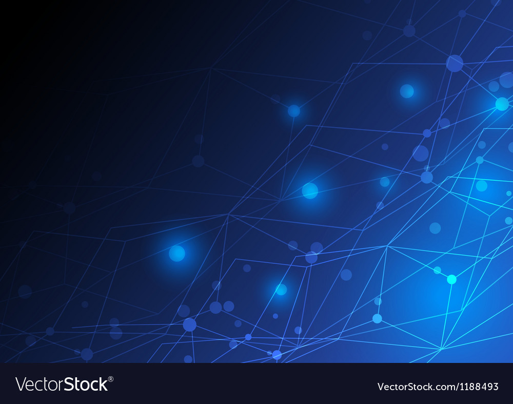 Abstract network concept design vector