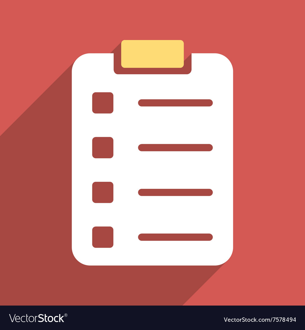 Pad form flat long shadow square icon vector