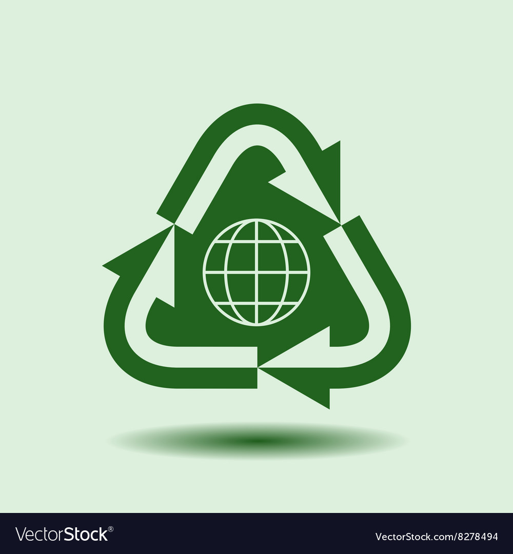 Recycle symbol isolated design element vector