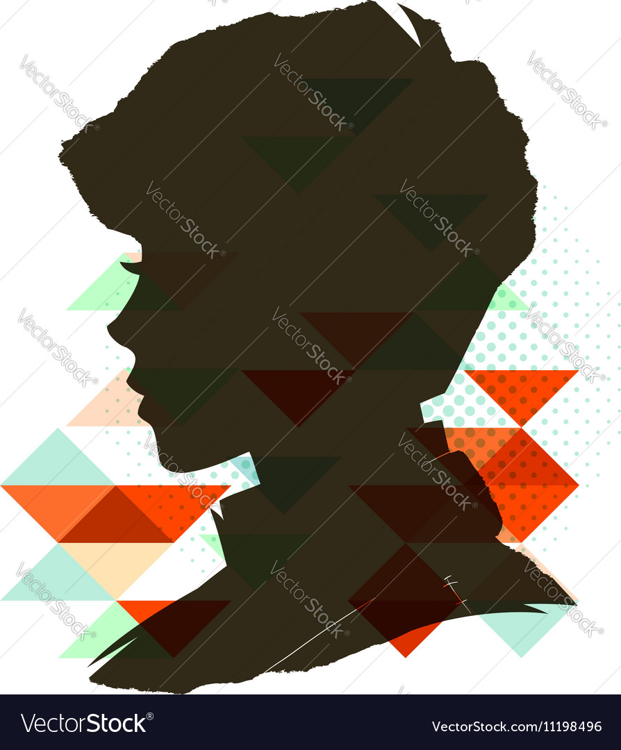 Vintage child silhouette vector