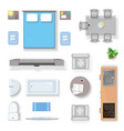 Apartment top view living room bedroom and vector image