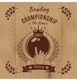Bowling Championship Vintage Style Design vector image