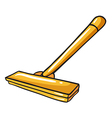 A yellow mop vector image vector image