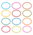 Colorful Set of Oval Frames On White vector image