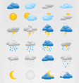 Set of colorful weather icons vector image vector image