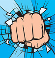 Punching hand cartoon vector image vector image