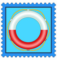 Lifebuoy on stamp vector image vector image