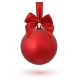 Red Christmas decoration ball vector image