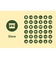 Set of sale simple icons vector image