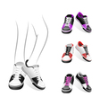 stylish sports shoes vector image