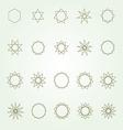Polygons and polygrams sacred geometry set vector image vector image