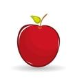 apple design over white background vector image