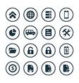 bank icons universal set vector image