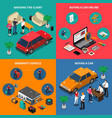 car dealership isometric concept vector image