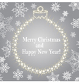 Card With Christmas Balls From Stars vector image