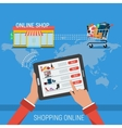 CONCEPT PROCESS SHOPPING ONLINE vector image