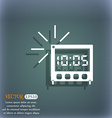 digital Alarm Clock icon sign On the blue-green vector image