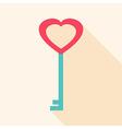 Key heart shaped vector image