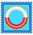 Lifebuoy on stamp vector image