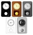 pendulum clocks vector image