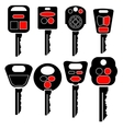 Set of Car Keys Icons Isolated vector image