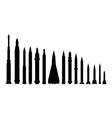 set of combat rocket weapons vector image